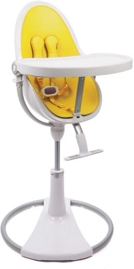 Bloom Fresco High Chair In White, Chrome